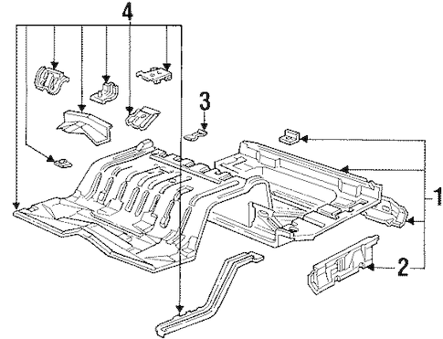 REAR FLOOR & RAILS for 1992 Ford Crown Victoria