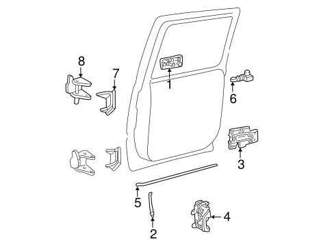 Rear Door for 2003 GMC Yukon XL 1500