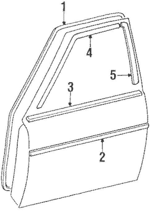 Genuine OEM Door & Components Parts for 1985 Toyota