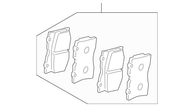 2005-2012 Acura RL SEDAN Pad Set, Front 45022-SJA-050