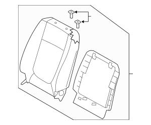 2009 Kia Spectra Seat Back Assembly 88404-2F161193