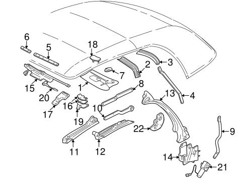OEM 1998 Pontiac Sunfire Frame & Components Parts