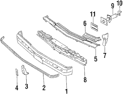 FRONT BUMPER Parts for 1986 Oldsmobile Cutlass Supreme