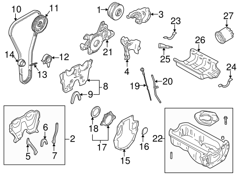 1995-2005 Mazda Miata & Protege Engine Timing Belt OEM NEW