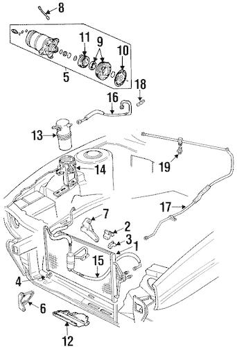 OEM 1994 Cadillac Eldorado Condenser, Compressor & Lines