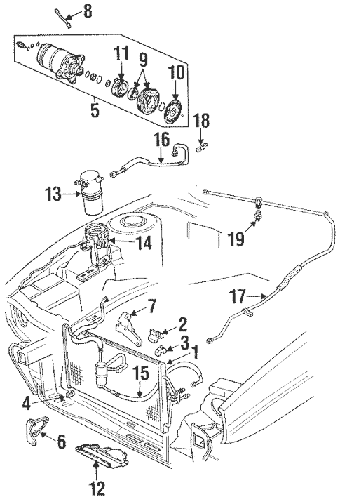 Condenser, Compressor & Lines for 1997 Cadillac Eldorado
