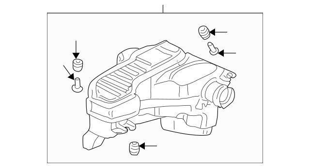 2001-2005 Honda CIVIC SEDAN Chamber Assembly, Resonator