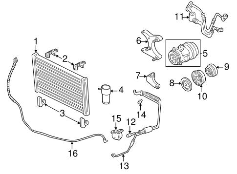 OEM 1999 Buick Regal Condenser, Compressor & Lines Parts