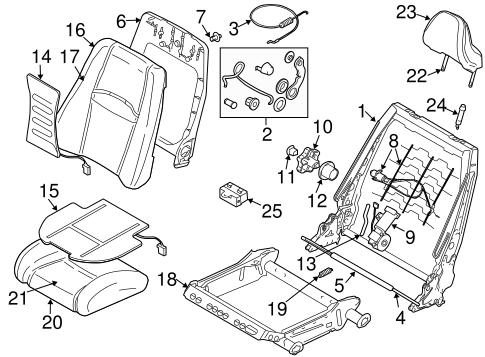 FRONT SEAT COMPONENTS for 2004 Volvo XC90
