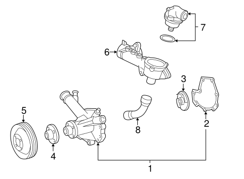 WATER PUMP for 1999 Mercedes-Benz C230