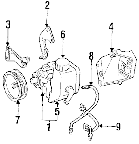 Pump & Hoses for 1997 Jeep Grand Cherokee