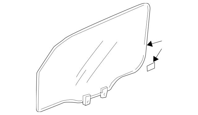 Genuine 2003-2011 Honda ELEMENT 5-DOOR Glass Assembly, R