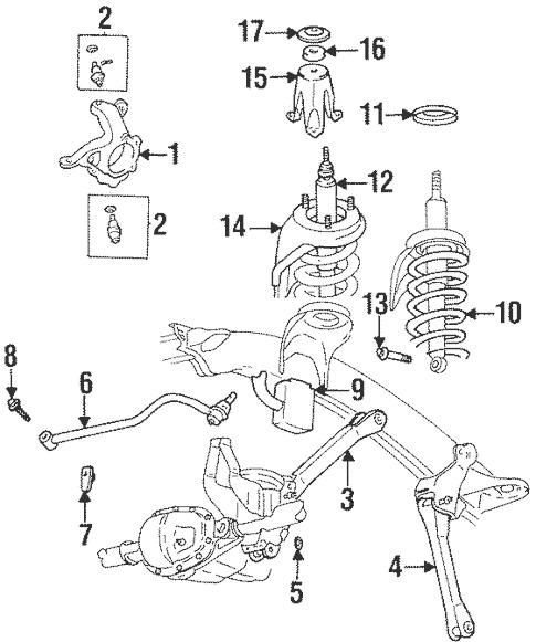 Suspension Components for 2000 Dodge Ram 1500 Parts