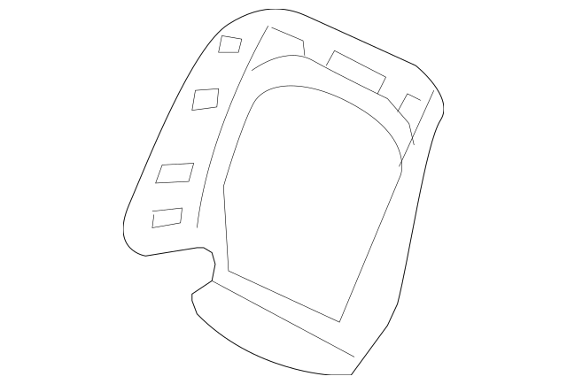 Genuine 2006 Honda Cover, R Front Seat-Back *NH598L
