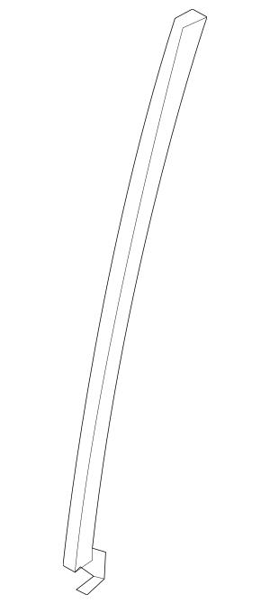 2006-2014 Honda RIDGELINE SEDAN Sash, L Rear Door (Lower