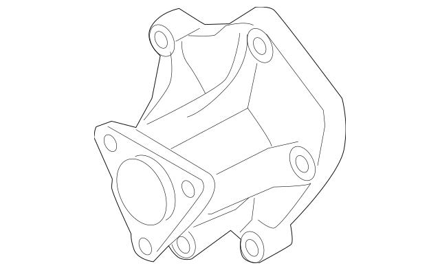 2013-2014 Hyundai Genesis Coupe Water Pump Assembly 25110