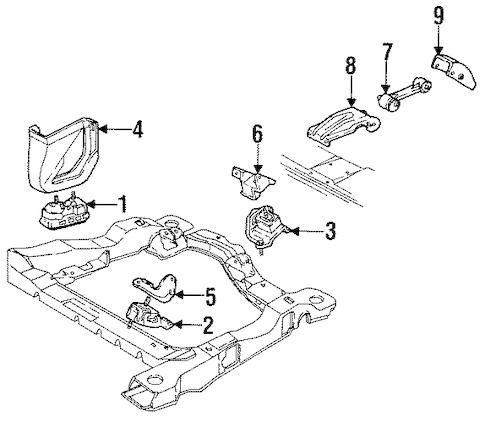 OEM 1986 Oldsmobile Cutlass Ciera Engine & Trans Mounting