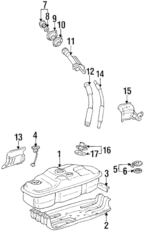 FUEL SYSTEM COMPONENTS for 1995 Toyota 4Runner