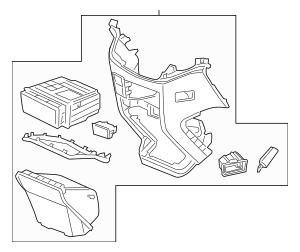 Genuine 2011-2013 Honda ODYSSEY 5-DOOR Console Assembly