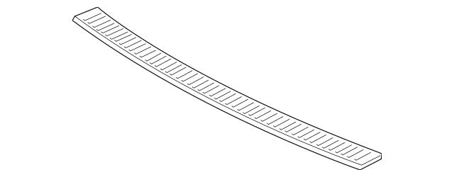 Honda Garnish, Rear Bumper Face Step (71520-THR-A01) For