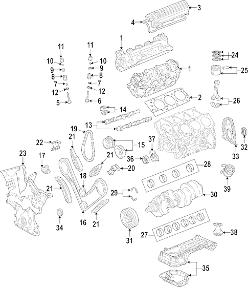 Genuine OEM ENGINE Parts for 2008 Toyota 4Runner SR5