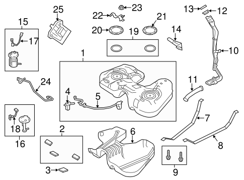 Fuel System Components for 2013 Ford Taurus