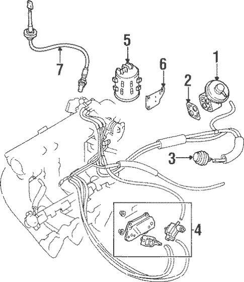 Emission Components for 1998 Mitsubishi Mirage