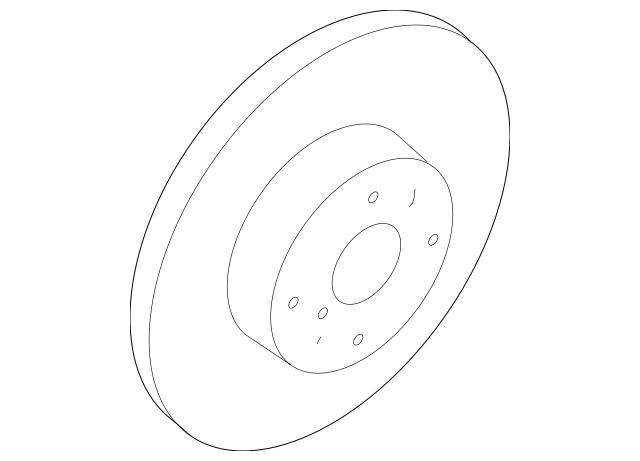 OEM NEW 2006-2015 Mazda MX5 Miata 2.0L Rotor Plate Disc