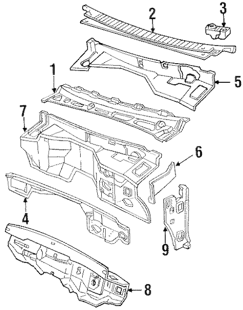 COWL Parts for 1992 Chevrolet C1500