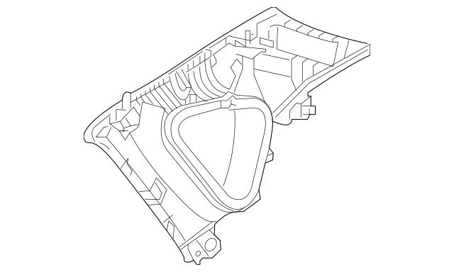 OEM Mazda Interior Quarter Panel Trim Panel For 2017-2019