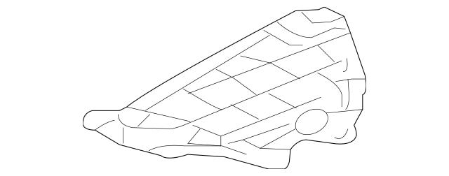 2007-2013 Acura MDX 5-DOOR Shield, Front Splash 74111-STX
