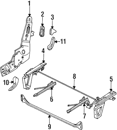 TRACKS & COMPONENTS for 2001 Dodge Ram 2500