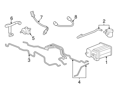 OEM Emission Components for 2008 GMC Acadia