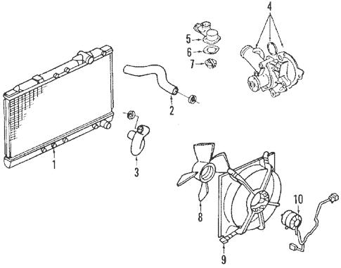 Radiator & Components for 1993 Mitsubishi Eclipse GSX