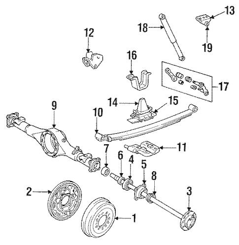 Genuine OEM Rear Brakes Parts for 1990 Toyota Pickup SR5