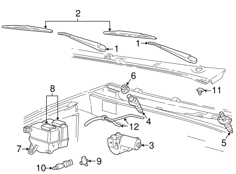 Wiper & Washer Components for 2001 Ford Explorer Sport Trac