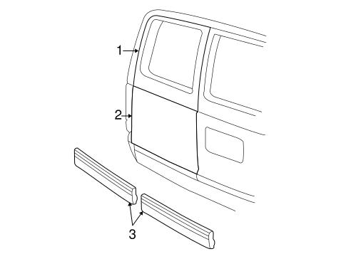 OEM 1997 Chevrolet Astro Door & Components Parts