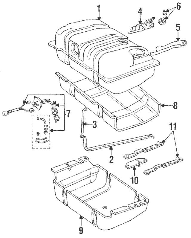 1991-1995 Jeep Cherokee Fuel Gauge Sending Unit 4762964
