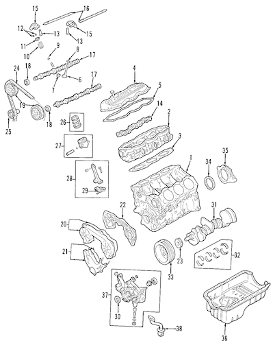 ENGINE PARTS for 2004 Nissan Frontier