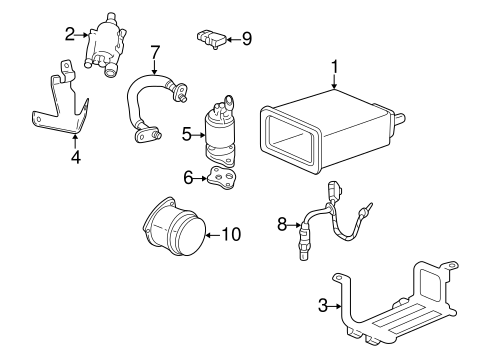 Emission Components for 1998 Cadillac Seville