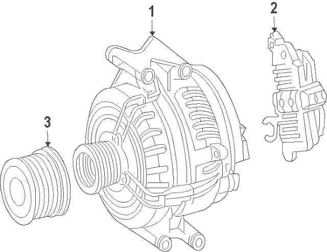 2012-2018 Mercedes-Benz Voltage Regulator 004-154-12-06