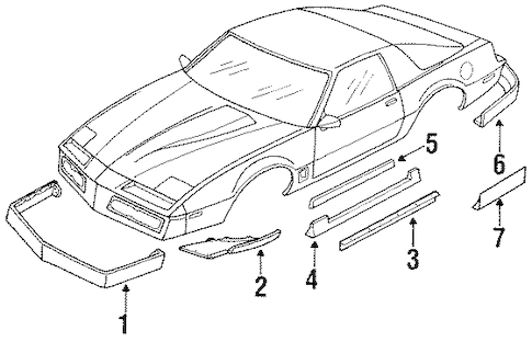 OEM Ground Effects for 1984 Pontiac Firebird