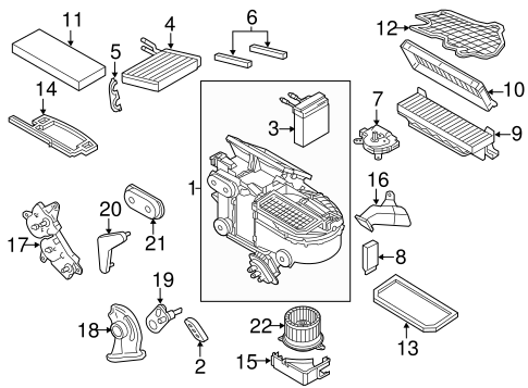 Heater for 2011 Ford Transit Connect