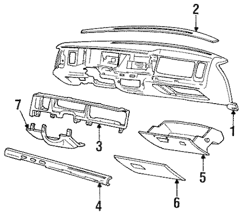 INSTRUMENT PANEL for 1991 Ford LTD Crown Victoria