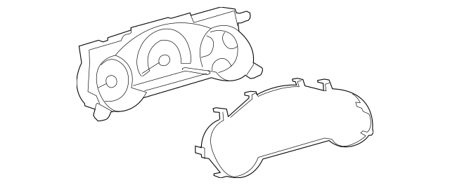 2008 Toyota FJ Cruiser Instrument Cluster 83800-35G31