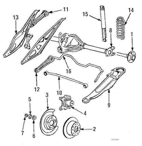 Volvo 740 Rear Suspension, Volvo, Free Engine Image For