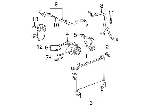 Condenser, Compressor & Lines for 2007 Chevrolet