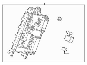 2014-2015 Cadillac SRX Fuse & Relay Box 22864093