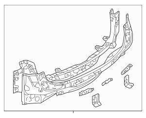 2016-2019 Mazda CX-9 Rear Panel Assembly TKY9-70-75Z