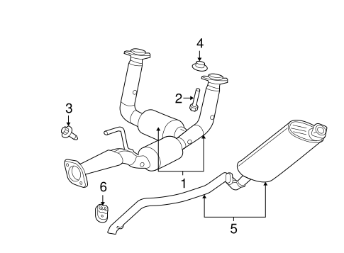 Exhaust Components for 2007 Jeep Grand Cherokee Parts